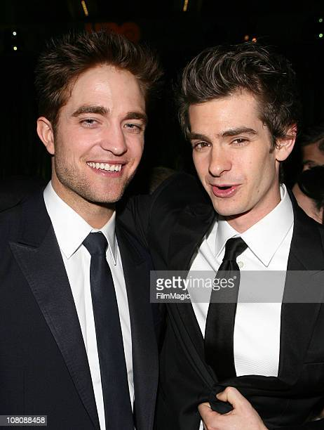 Actors Robert Pattinson and Andrew Gardield attend HBO's 68th Annual Golden Globe Awards Official After Party held at The Beverly Hilton hotel on...