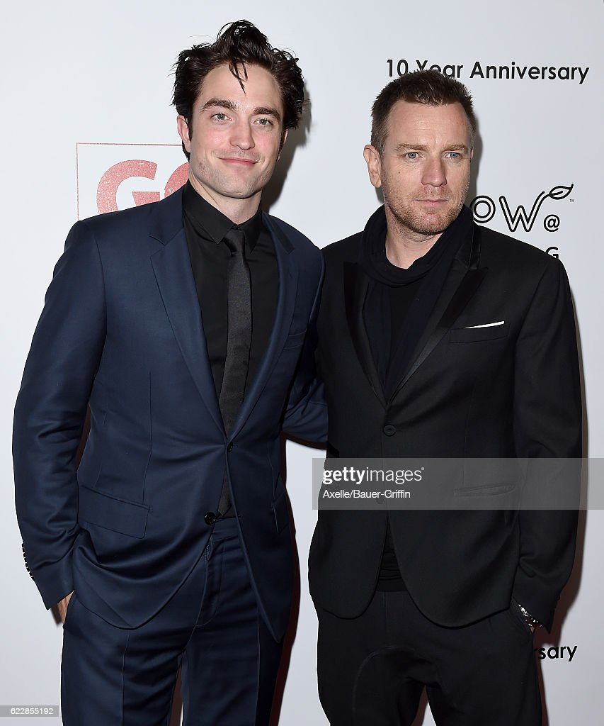 Actors Robert Pattinson and Ewan McGregor arrive at the 10th Annual GO Campaign Gala at Manuela on November 5, 2016 in Los Angeles, California.