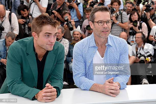Actors Robert Pattinson and Guy Pearce attend 'The Rover' photocall during the 67th Annual Cannes Film Festival on May 18 2014 in Cannes France