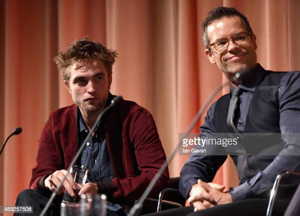 Actors Robert Pattinson and Guy Pearce attend The Rover screening with Q A at the BFI Southbank on August 6 2014 in London England