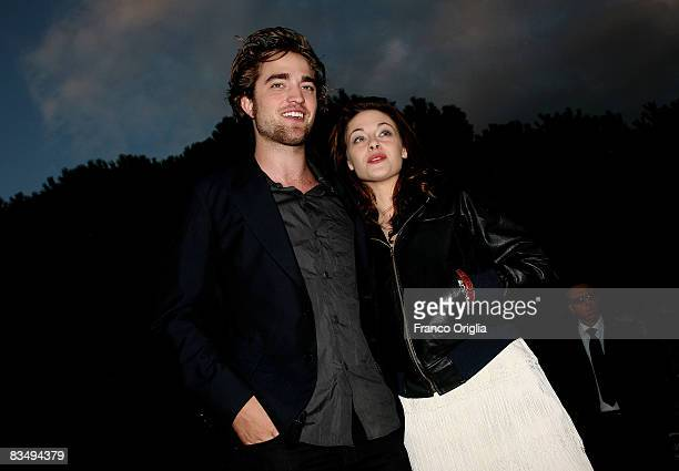 Actors Robert Pattinson and Kristen Stewart attend the 'Twilight' Premiere during the 3rd Rome International Film Festival held at the Auditorium...