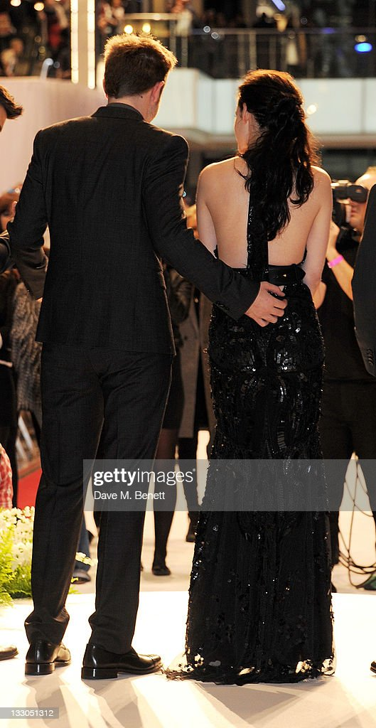 Actors Robert Pattinson (L) and Kristen Stewart attend the UK Premiere of 'The Twilight Saga: Breaking Dawn Part 1' at Westfield Stratford City on November 16, 2011 in London, England.