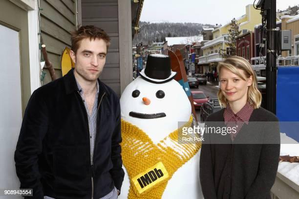 Actors Robert Pattinson and Mia Wasikowska of 'Damsel' attend The IMDb Studio and The IMDb Show on Location at The Sundance Film Festival on January...