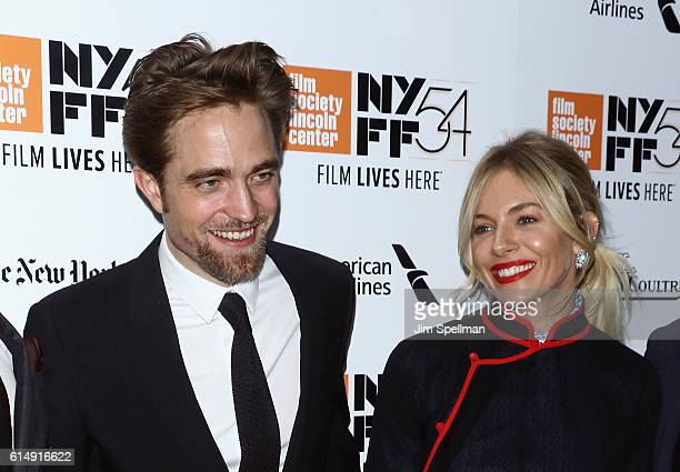 """Actors Robert Pattinson and Sienna Miller attend the 54th New York Film Festival closing night screening of """"The Lost City Of Z"""" at Alice Tully Hall,..."""