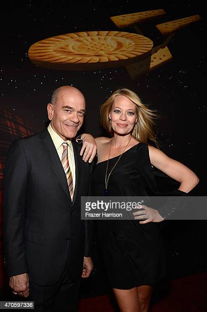 Actors Robert Picardo and Jeri Ryan attend the 9th Annual BritWeek launch party at the British Consul General's Residence on April 21 2015 in Los...
