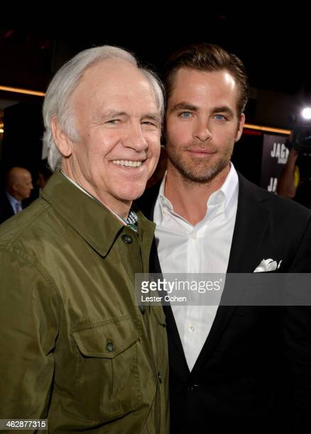 Actors Robert Pine and Chris Pine arrive at the premiere of Paramount Pictures' 'Jack Ryan Shadow Recruit' at TCL Chinese Theatre on January 15 2014...