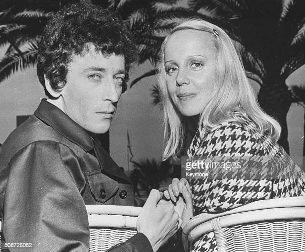 Actors Robert Powell and Georgina Hale pictured at the Cannes Film Festival where they are promoting their film 'Mahler' France May 15th 1974