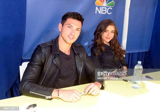 Actors Robert Scott Wilson and Victoria Konefal attend NBC's Days Of Our Lives Day Of Days fan event at Universal CityWalk on November 10 2018 in...