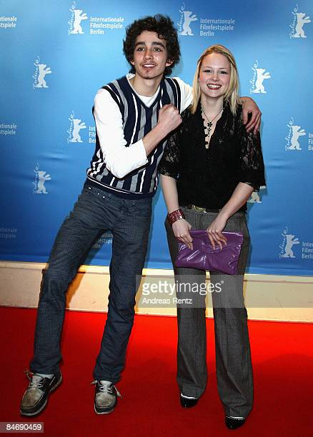 Actors Robert Sheehan and Kimberly Nixon attend the photocall for 'Cherrybomb' as part of the 59th Berlin Film Festival at the Babylon Cinema on...