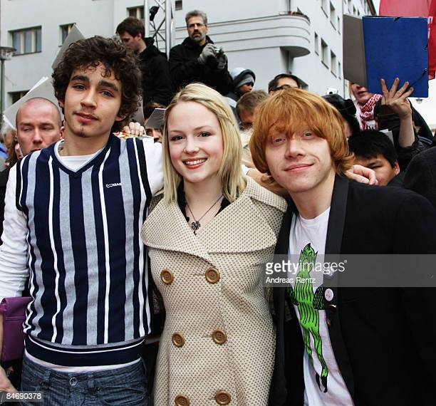 Actors Robert Sheehan Kimberley Nixoan and Rupert Grint attend the photocall for 'Cherrybomb' as part of the 59th Berlin Film Festival at the Babylon...