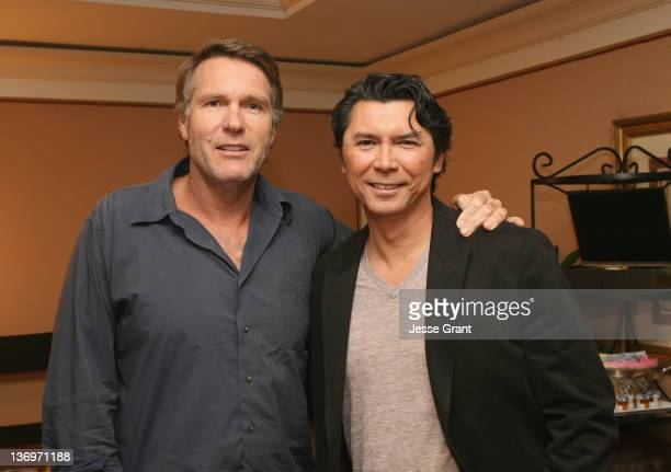 """Actors Robert Taylor and Lou Diamond Phillips attend the TCA Panel for A&E Network's New Scripted Drama Series """"Longmire"""" at the Langham Hotel on..."""