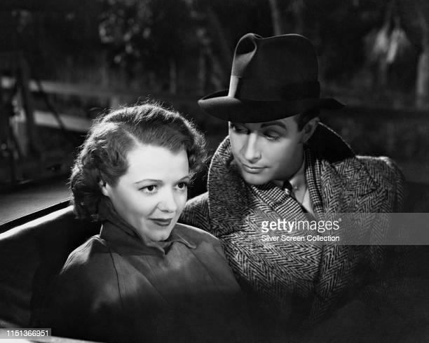Actors Robert Taylor as Dr Robert 'Bob' Dakin and Janet Gaynor as Katherine 'Kay' Brannan in the romantic comedy 'Small Town Girl' 1936
