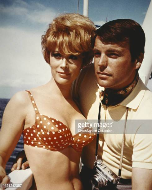Actors Robert Wagner and Jill St John in a publicity still for the film 'How I Spent My Summer Vacation' 1967