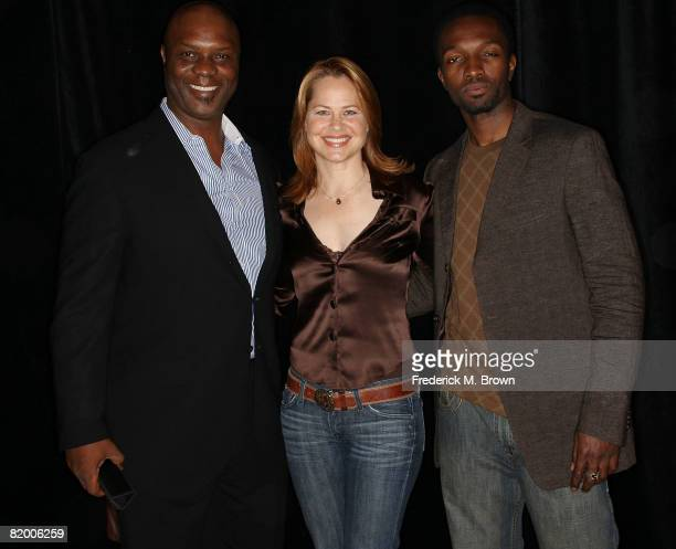 Actors Robert Wisdom, Deirdre Lovejoy and Jamie Hector attend the 24th Annual Television Critics Association Awards Show at the Beverly Hilton Hotel...