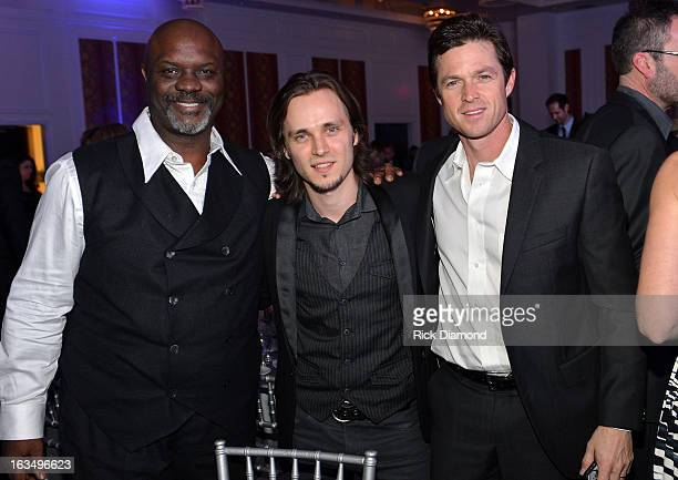 Actors Robert Wisdom, Jonathan Jackson, and Eric Close attend TJ Martell Honors Gala at Hutton Hotel on March 10, 2013 in Nashville, Tennessee.