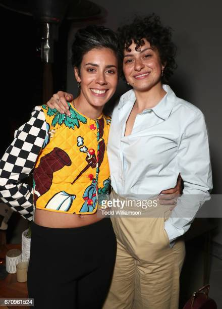 Actors Roberta Colindrez and Alia Shawkat attend the red carpet premiere of Amazon's forthcoming series 'I Love Dick' at The Linwood Dunn Theater...