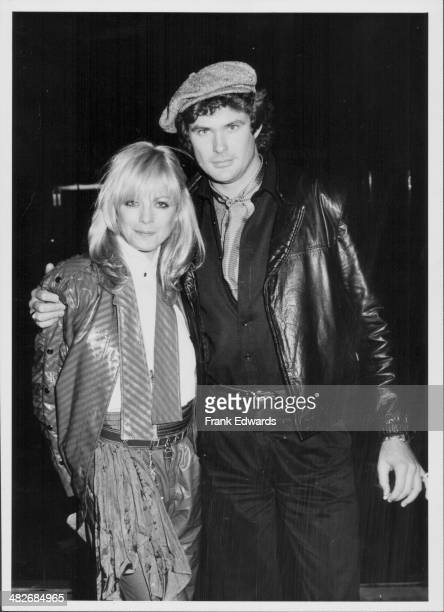 Actors Roberta Leighton and David Hasselhoff attending a gallery opening California December 1981