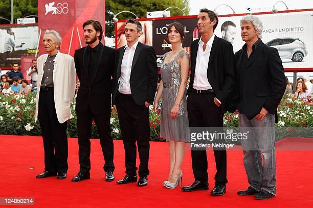 """Actors Roberto Herlitzka, Luca Marinelli, Gabriele Spinelli, Anna Bellato, director Gian Alfonso Pacinotti and Domenico Procacci attend the """"L'ultimo..."""