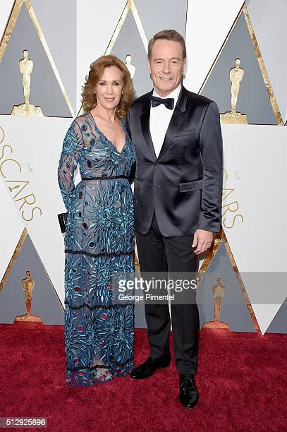 Actors Robin Dearden and Bryan Cranston attend the 88th Annual Academy Awards at Hollywood Highland Center on February 28 2016 in Hollywood California