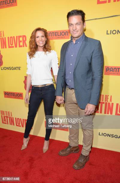 Actors Robin Lively and Bart Johnson attend the premiere of Pantelion Films' 'How To Be A Latin Lover' at ArcLight Cinemas Cinerama Dome on April 26...
