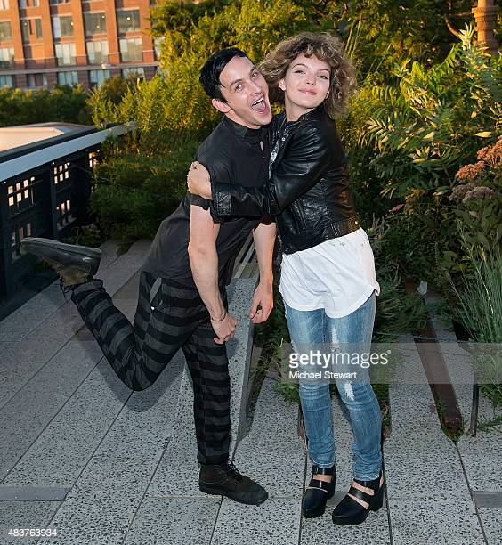 Actors Robin Lord Taylor and Camren Bicondova arrive at People StyleWatch Fall Fashion Party on August 12 2015 in New York City