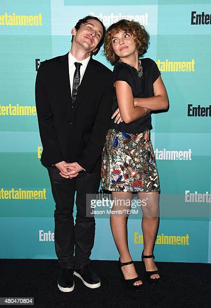 Actors Robin Lord Taylor and Camren Bicondova attend Entertainment Weekly's ComicCon 2015 Party sponsored by HBO Honda Bud Light Lime and Bud Light...