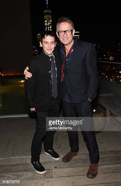 Actors Robin Lord Taylor and Sean Pertwee attend the After Party for a screening of Sony Pictures Classics' 'The Bronze' hosted by the Cinema Society...
