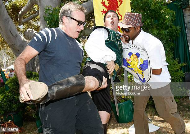 Actors Robin Williams and Blair Underwood at the A Time for Heroes Celebrity Carnival Sponsored by Disney benefiting the Elizabeth Glaser Pediatric...