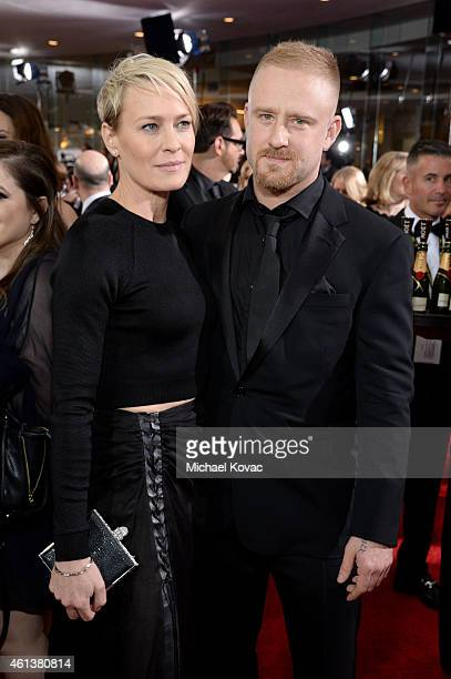 Actors Robin Wright and Ben Foster attend the 72nd Annual Golden Globe Awards at The Beverly Hilton Hotel on January 11 2015 in Beverly Hills...