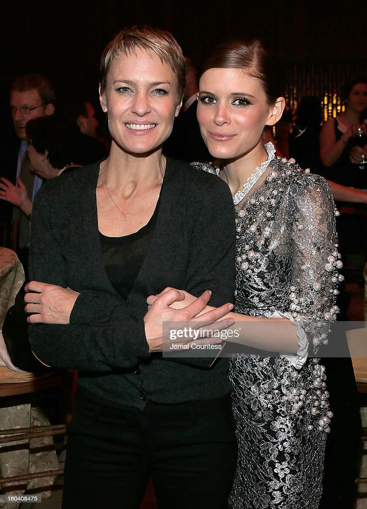 Actors Robin Wright and Kate Mara attend Netflix's 'House Of Cards' New York premiere after party at Alice Tully Hall on January 30, 2013 in New York City.