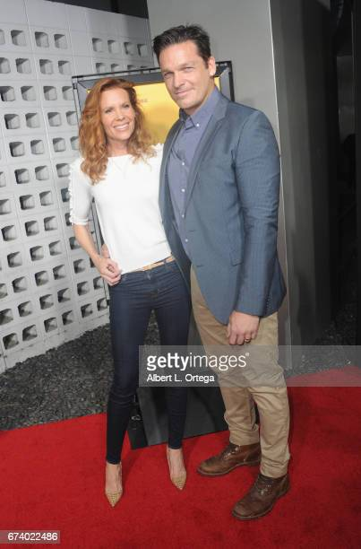 Actors Robyn Lively and Bart Johnson arrives for the Premiere Of Pantelion Films' 'How To Be A Latin Lover' held at ArcLight Cinemas Cinerama Dome on...