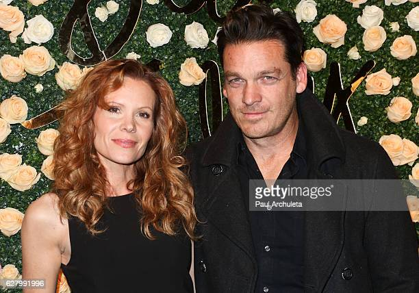 Actors Robyn Lively and Bart Johnson attend Becca Tilley's Blog and YouTube launch party at The Bachelor Mansion on December 5 2016 in Los Angeles...
