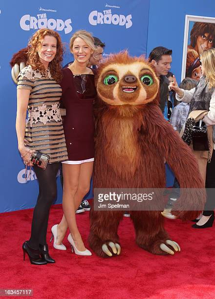 Actors Robyn Lively and Blake Lively attend The Croods premiere at AMC Loews Lincoln Square 13 theater on March 10 2013 in New York City