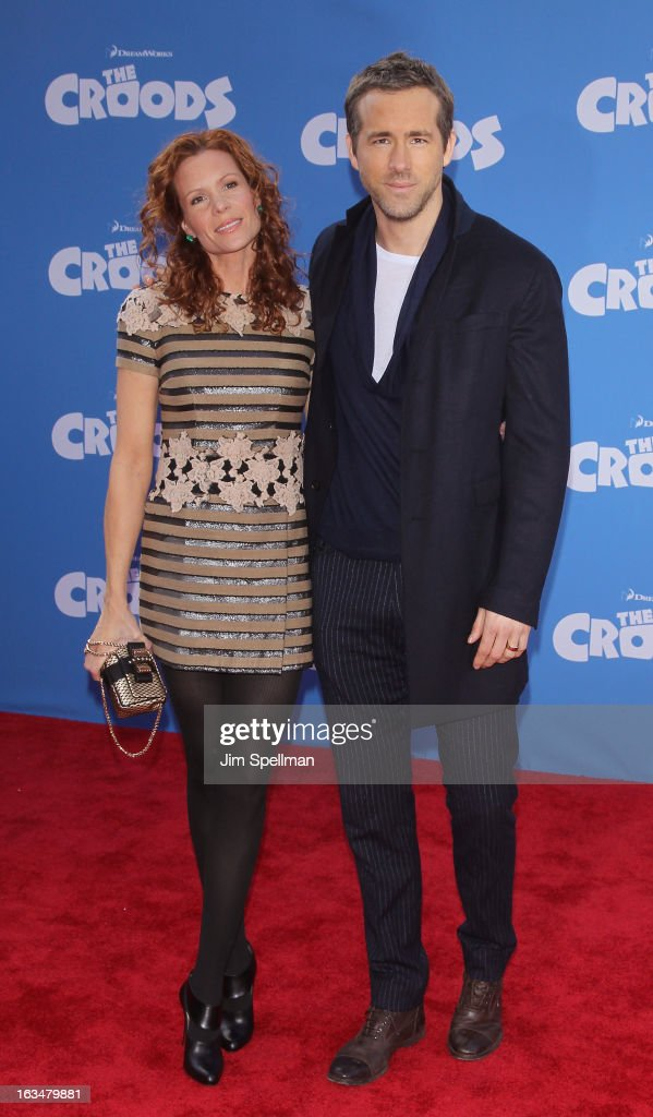 Actors Robyn Lively and Ryan Reynolds attend 'The Croods' premiere at AMC Loews Lincoln Square 13 theater on March 10, 2013 in New York City.