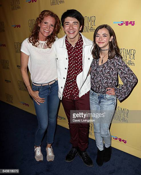 Actors Robyn Lively Sloane Morgan Siegel and Ashley Boettcher attend a celebration of Amazon's Gortimer Gibbon's Life on Normal Street Season 2 at...
