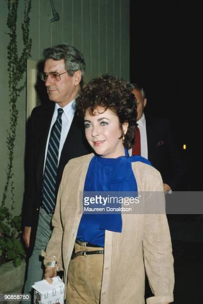 Actors Rock Hudson and Elizabeth Taylor, circa 1982.