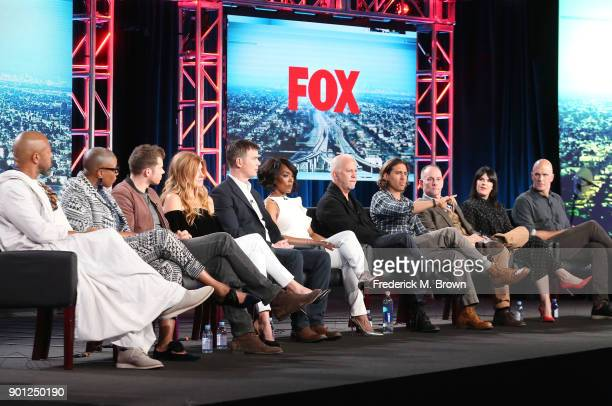 Actors Rockmond Dunbar Aisha Hinds Oliver Stark Connie Britton Peter Krause and Angela Bassett show creator/showrunner/writer/director/executive...