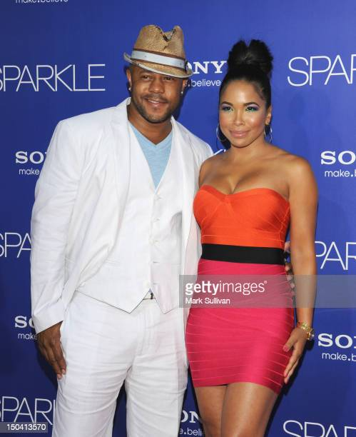 Actors Rockmond Dunbar and Maya Gilbert arrive for the Los Angeles premiere of Sparkle at Grauman's Chinese Theatre on August 16 2012 in Hollywood...