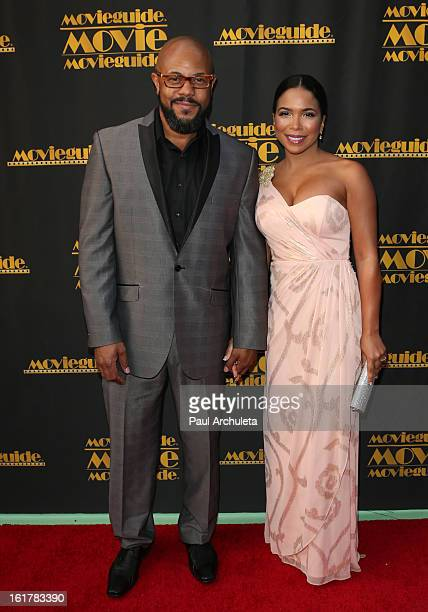 Actors Rockmond Dunbar and Maya Gilbert attend the 21st annual Movieguide Awards at Hilton Universal City on February 15 2013 in Universal City...
