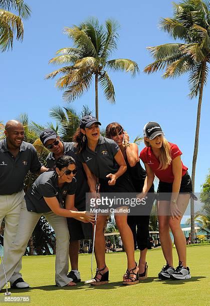 Actors Rockmond Dunbar Jodi Lyn O'Keefe Esai Morales Camille Guaty Roselyn Sanchez and Jennifer Morrison attend the Amaury Nolasco Friends Golf...
