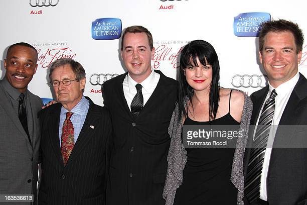 Actors Rocky Carroll David McCallum Sean Murray Pauley Perrette and Michael Weatherly attends the Television Academy's 22nd Annual Hall Of Fame...