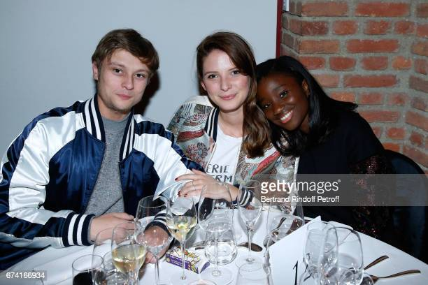 Actors Rod Paradot Josephine Japy and Karidja Toure attend the 'pascALEjandro L'Androgyne Alchimique' Exhibition Opening at Azzedine Alaia Gallery on...