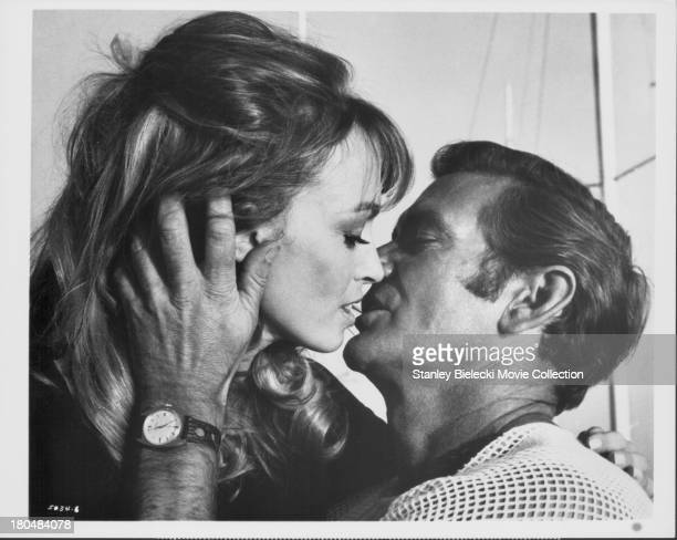 Actors Rod Taylor and Suzy Kendall in a scene from the movie 'Darker Than Amber' 1970