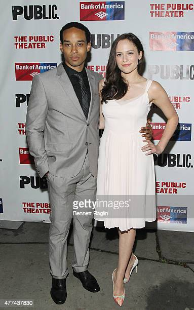 Actors Rodney Richardson and Francesca Carpanini attends The Public Theater's Opening Night Of The Tempest at Delacorte Theater on June 16 2015 in...