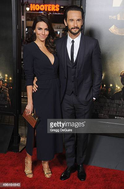 Actors Rodrigo Santoro and Mel Fronckowiak arrive at the AFI FEST 2015 Presented By Audi Centerpiece Gala Premiere of 'The 33' at TCL Chinese Theatre...