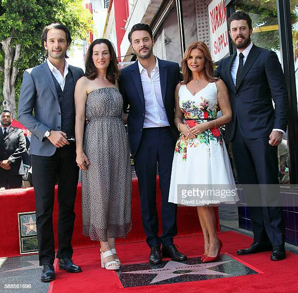Actors Rodrigo Santoro, Ayelet Zurer, Jack Huston, Roma Downey and Toby Kebbell attend Roma Downey being honored with a Star on the Hollywood Walk of...