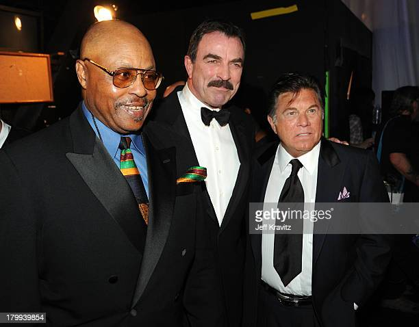 Actors Roger E Mosley Tom Selleck Larry Manetti of Magnum PI attend the 7th Annual TV Land Awards held at Gibson Amphitheatre on April 19 2009 in...