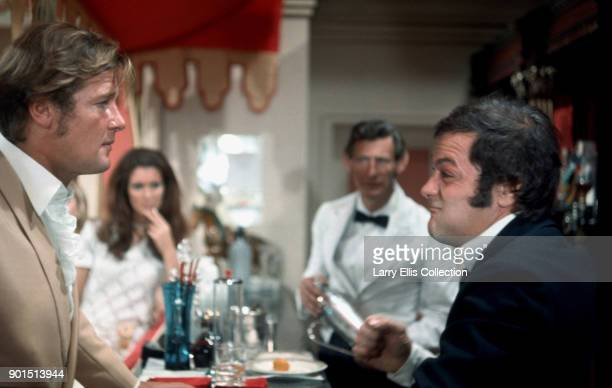 Actors Roger Moore and Tony Curtis in a scene from the television series 'The Persuaders' 1972