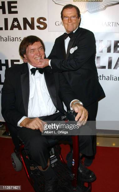Actors Roger Moore right and actor Richard Kiel arrive at The Thalians 52nd Anniversary Gala honoring Moore to benefit The Thalians Mental Health...