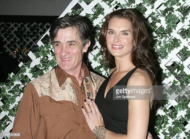 Actors Roger Rees and Brooke Shields attend the after party to celebrate the new cast of The Addams Family at the Empire Hotel Rooftop on July 7 2011...